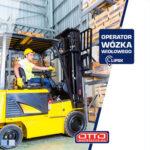 Operator wózka widłowego czołowego praca Niemcy na magazynie, Lipsk 2020